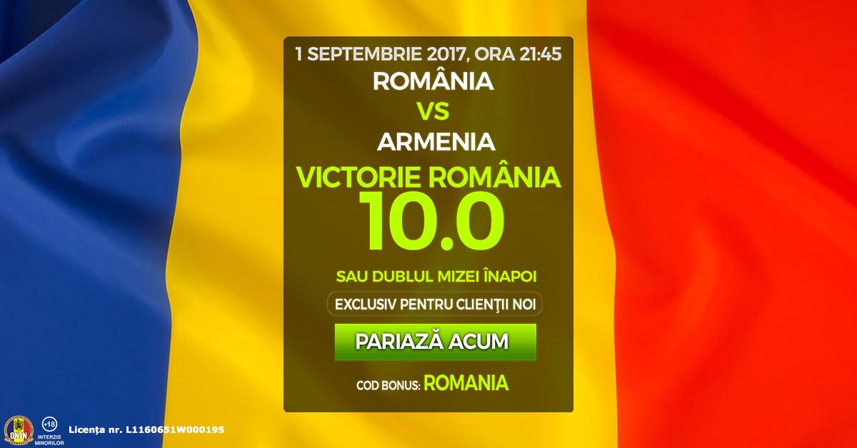 Pariaza ACUM pe victoria Romaniei cu Armenia la cota 10.0!