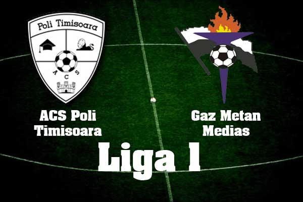 Ponturi pariuri fotbal Romania - ACS Poli Timisoara vs Gaz Metan Medias