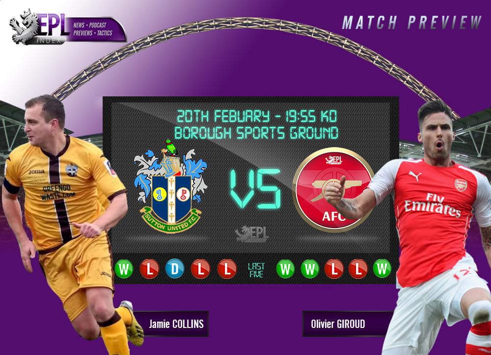 Ponturi pariuri fotbal Cupa Angliei - Sutton United vs Arsenal