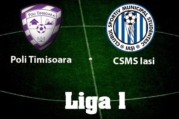 Ponturi pariuri fotbal Romania - ACS Poli Timisoara vs CSM Poli Iasi