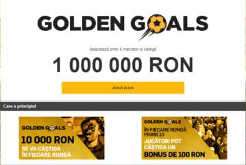 Participa la Golden Goals si castiga 1000000 RON!
