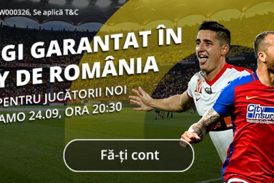 Cu Fortuna castigi GARANTAT in Derby de Romania!