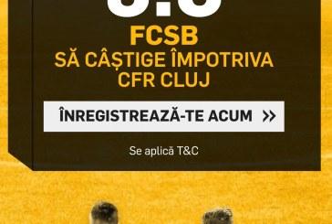 Mizeaza doar aici la cota 9.0 pe un succes al celor de la FCSB cu CFR Cluj
