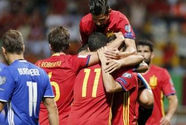 Ploaie de goluri in Liechtenstein – Spania da recital!